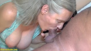 92 years old granny doing deepthroat porno