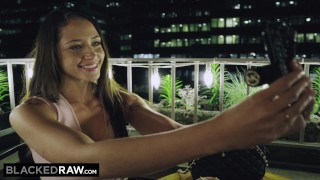 BLACKEDRAW New York Teen Can't Resist The BIGGEST BBC In The World Blowjob 60fps