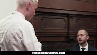 MormonBoyz - Teen takes Mormon President Cock Raw Monster young