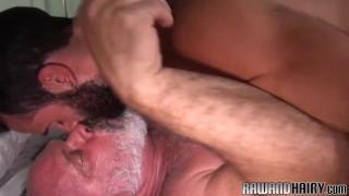 Otter doggystyle barebacked by horny bear Big guys