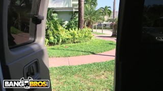BANGBROS - Veronica Rodriguez On The Bang Bus In Miami, Horny For Cock!