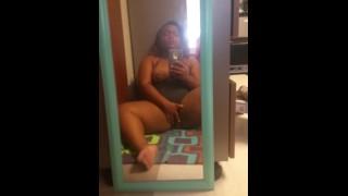 камминг в зеркале Мой утренний оргазм