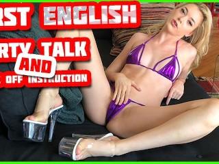 Jerk Off Instruction in English! American Pornstar Anny Aurora