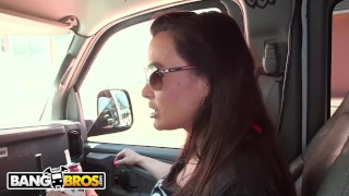 BANGBROS - Lisa Ann Is The Answer, Bang Bus Is The Question Mother step