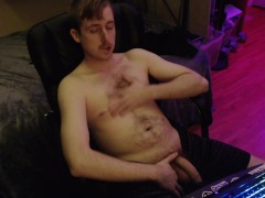 Cam model fondles his dick on cam and teases. Canadian stud with moustache