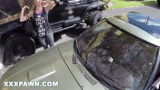 XXX PAWN - Blonde Bimbo Tries To Sell Her Car, Ends Up Selling Herself Hardcore milfs
