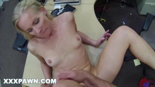 XXX PAWN - Blonde Bimbo Tries To Sell Her Car, Ends Up Selling Herself Masturbation ohmibod