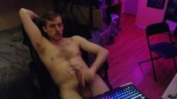 Young canadian stud jerk off on webcam (no cum)