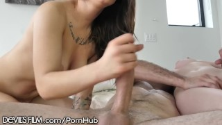 DevilsFilm Repairman's Cumshot On Hot Teen Best Friends Pussy brunette