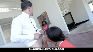 BlackValleyGirls - Stepsister Teaches Her To Suck Cock Teen cumshot