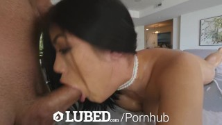 Fat an takes pussy up asian pounding lubed oiled hd dick