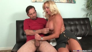 Milf Gets To Handjob Young Guys Big Cock