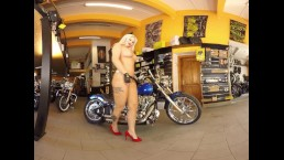 185 - Jarushka Ross - Bikes and Babes TV Sexy VR clips - 3DVR180