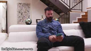 RealityJunkies Pervert Stepdad Watches Teen Daughter's Cam Shows! Hidden pissing