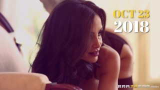 BRAZZERS -Brooke Brand dress like a Geisha to fuck James Deen in the shower Doggy teen