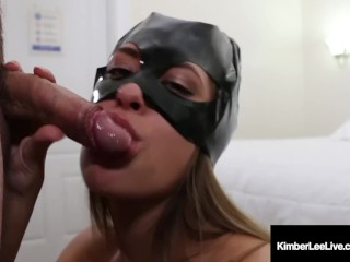 Gratis porn sampler hot kimber lee covers her cat mask with a load of cum!, kimberleelive kimber lee