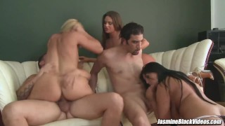 Jasmine Black has anal sex orgy with some hot friends Lover bj