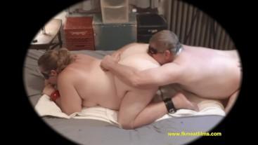 2018-10-05 Manslut Ass fucks then Eats It BBW BDSM Mmf Bondage Anal 3sum