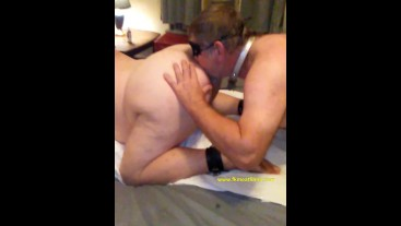 2018-10-05 Manslut Eats Ass Being Fucked BBW BDSM Mmf Bondage Slave Cumslut