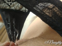 4k Masturbate and making my black lace panty very dirty