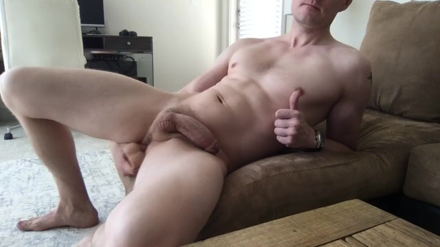 Gay cum covered feet Guy fucks himself and cums