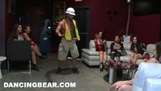 Cfnm bear the party dancing chain bachelorette off big boobs
