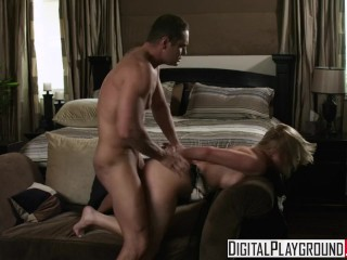 Digital Playground - Hot blonde Kayden Kross makes her bf a cuck