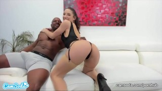 CamSoda - Abella Danger and Prince Yashua Interracial Blowjob and SEX