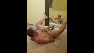 Jock DILDO'ing ass and showing SLOPPY hole to cameraMAN