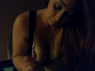 the most amazing deepthroat blowjob from wife after a great night out