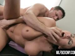 Super hot milf Eva Karera uses a dildo before anal sex