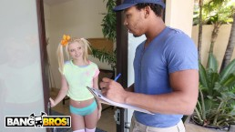 BANGBROS - Tiny Blonde Riley Star Almost Gets Split In Half