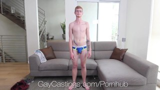 GayCastings Casting agent fucks naive newcomer Handjob mouthful