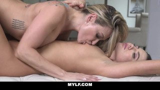 MYLF - Hot Mature MILF Seduces Young Female Coworker
