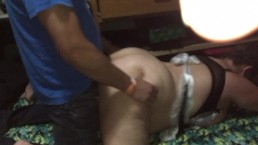 Big tits maid gets recorded fucking husbands friend!