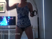 XXXcitedBrunette - Playing VR in Panties #1 (Beat Saber Compilation)