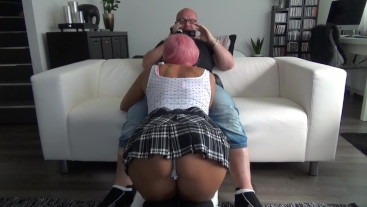 Teen fantasy: A student sucks her teacher's cock for better grades 2.0