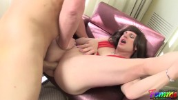 super fit CD enjoys getting her ass fucked