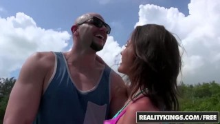 Reality Kings - Skinny Renee Roulette gets her ass fucked on a boat hard