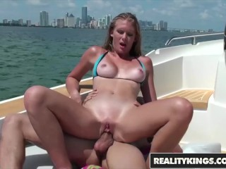 Reality Kings –  Fit tan blonde Sunset Diamond loves anal and the outdoors