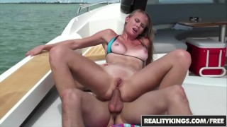 Reality Kings -  Fit tan blonde Sunset Diamond loves anal and the outdoors