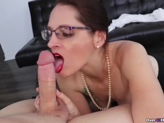 Dr pron sex sexy milf jerks off a cock, over40handjobs big cock handjob milf mom mother