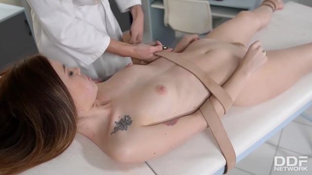 Goth porn cross Sadistic lady doctor kayla green binds spanks subby patient misha cross