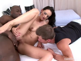 Charlie anal creampie movie laura davis enjoys interracial anal sex in front of her cuckold husband, cumeatingcuckolds ass fuck cuckold anal wife