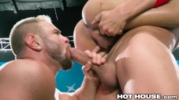 HotHouse Big Dick Muscle Hunk Group Sex With 3 Baseball Players