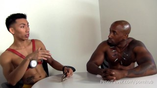 Hung Black Stud Slams Lean Asian in GAYVENGERS superhero parody, Episode 1