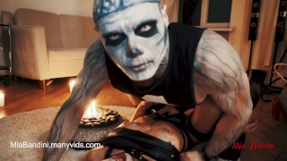 Mia fucked devil halloween horny with skeleton bandini halloween young