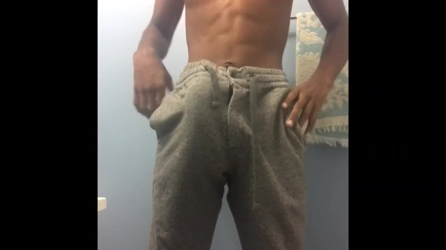 Stiff hard cocks After workout playing with my soft / stiff dick