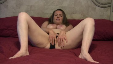 Masturbating in Black/Pink VS Panties