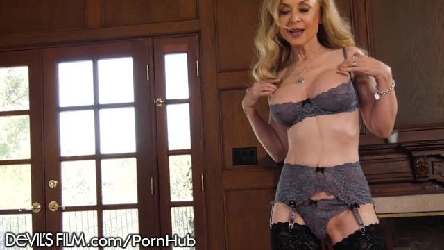 Nina hartley swallows cock Devilsfilm hot mature nina hartley rlly luvs her grandsons friend